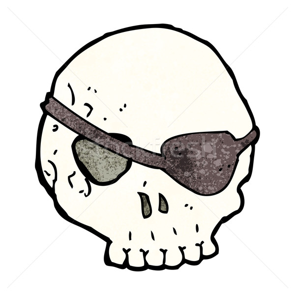 cartoon skull with eye patch Stock photo © lineartestpilot
