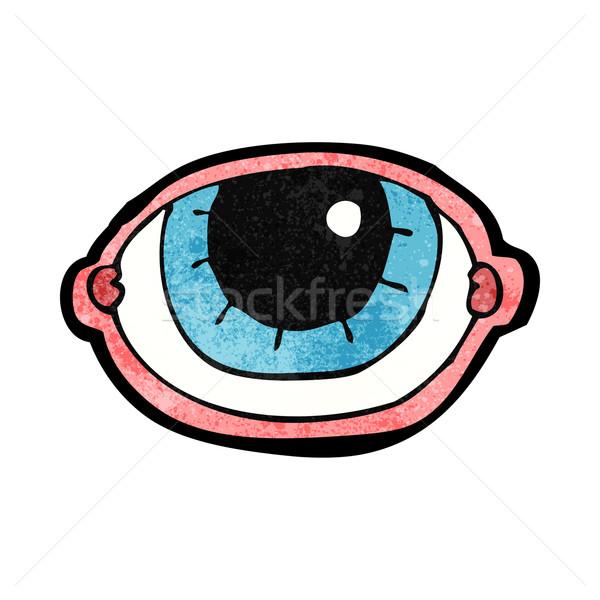Rajz bámul szem kéz terv őrült Stock fotó © lineartestpilot