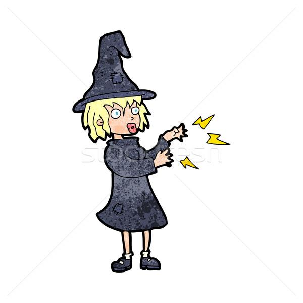 Cartoon ведьмой заклинание стороны дизайна Crazy Сток-фото © lineartestpilot