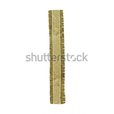 cartoon wooden ruler Stock photo © lineartestpilot