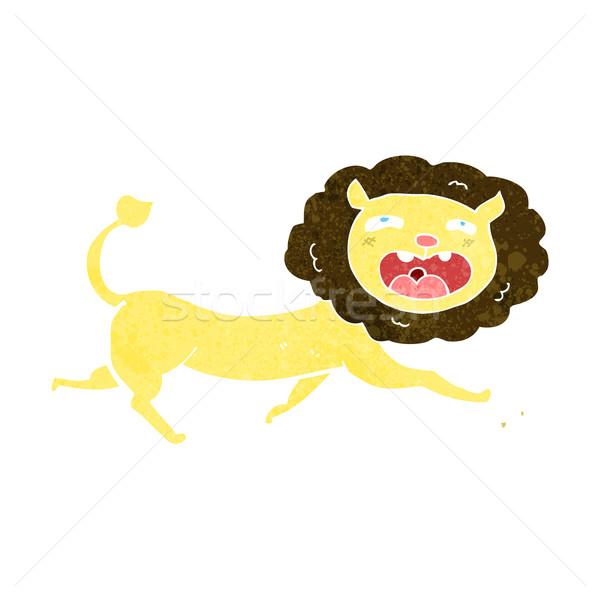 Cartoon лев дизайна искусства работает животные Сток-фото © lineartestpilot
