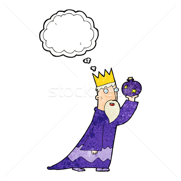 one of the three wise men with thought bubble Stock photo © lineartestpilot