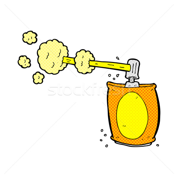 Képregény rajz aeroszol spray konzerv retro Stock fotó © lineartestpilot