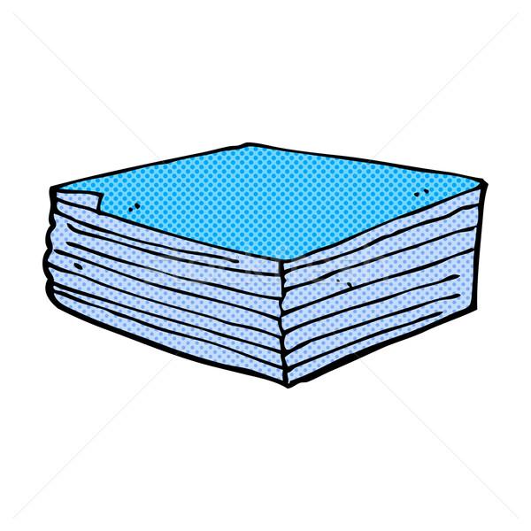 comic cartoon note pads Stock photo © lineartestpilot