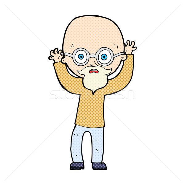 Dessinées cartoon chauve homme rétro Photo stock © lineartestpilot