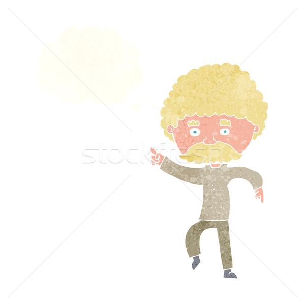 Cartoon siedemdziesiątych stylu człowiek disco taniec Zdjęcia stock © lineartestpilot