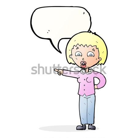 Cartoon staren jongen tekstballon man kunst Stockfoto © lineartestpilot