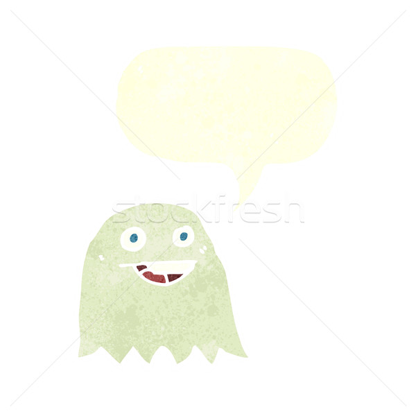 cartoon ghost with speech bubble Stock photo © lineartestpilot