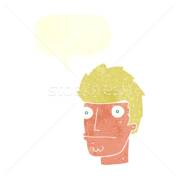 Rajz ideges férfi szövegbuborék kéz terv Stock fotó © lineartestpilot
