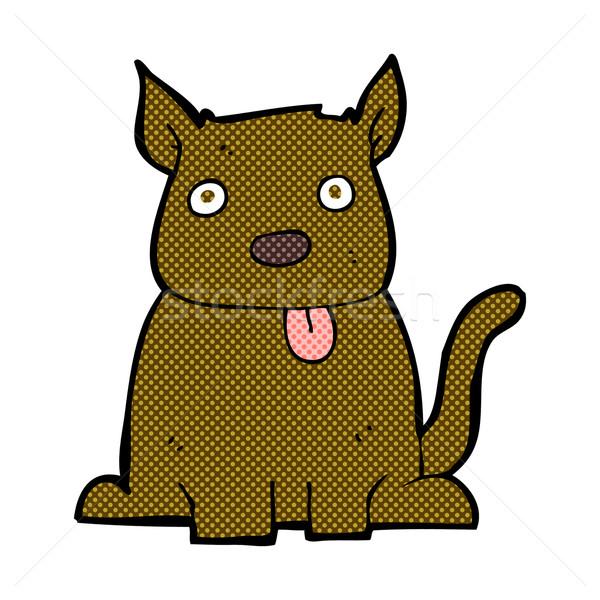 comic cartoon dog sticking out tongue Stock photo © lineartestpilot