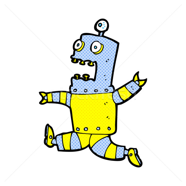 comic cartoon terrified robot Stock photo © lineartestpilot