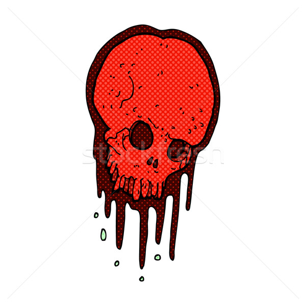 comic cartoon scary skull Stock photo © lineartestpilot