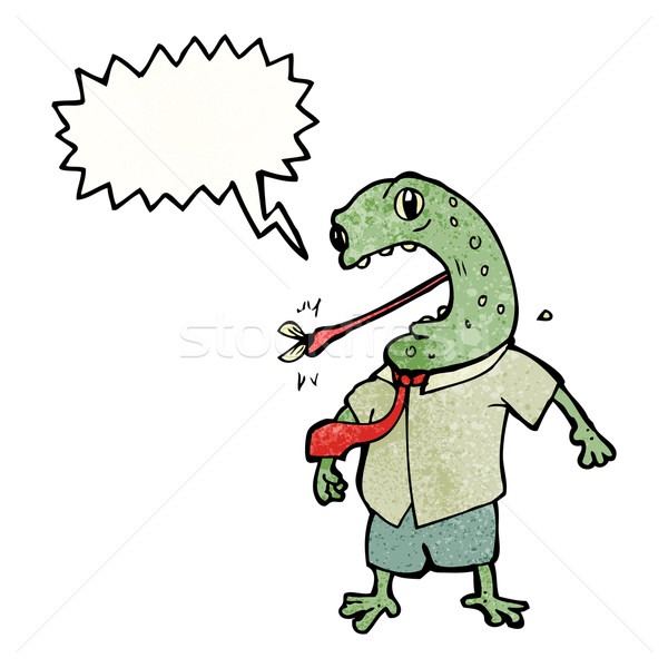 toad with speech bubble cartoon Stock photo © lineartestpilot