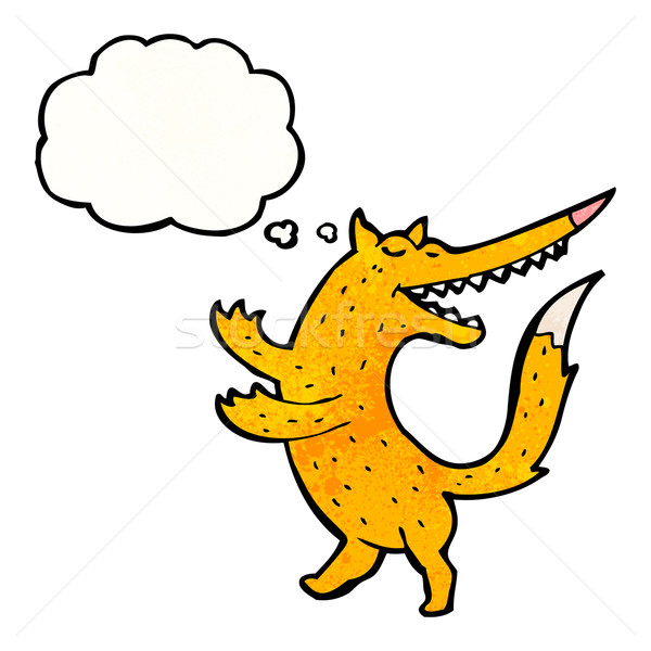 Danse Fox cartoon texture main heureux Photo stock © lineartestpilot