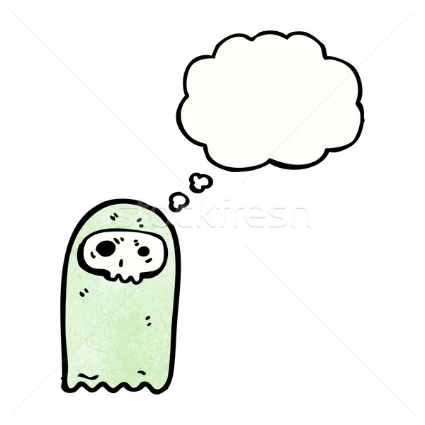cartoon skull ghost Stock photo © lineartestpilot