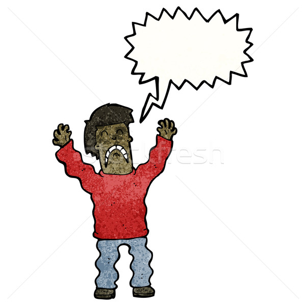 cartoon frightened man Stock photo © lineartestpilot