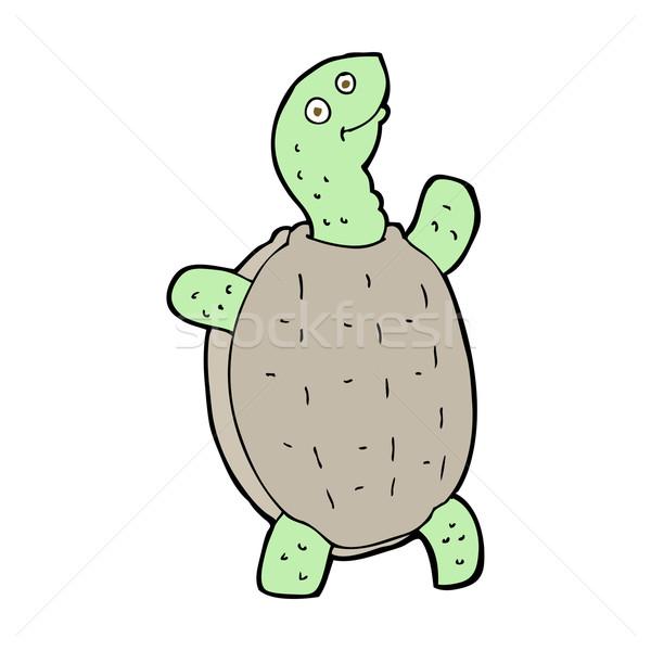 Karikatür mutlu kaplumbağa dizayn sanat Retro Stok fotoğraf © lineartestpilot