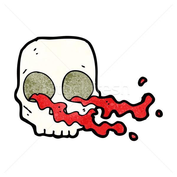 cartoon gross skull Stock photo © lineartestpilot