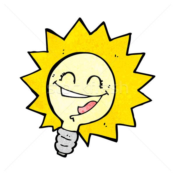 happy light bulb cartoon  Stock photo © lineartestpilot
