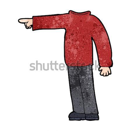 cartoon headless man pointing Stock photo © lineartestpilot