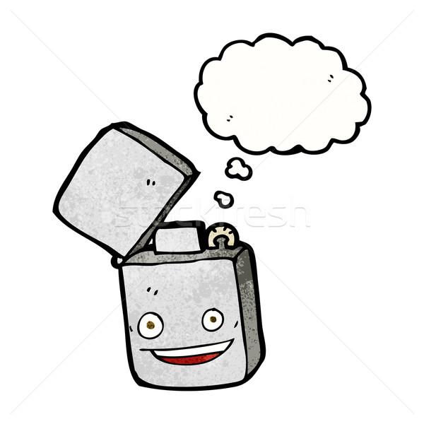 Cartoon metal accendino bolla di pensiero mano design Foto d'archivio © lineartestpilot