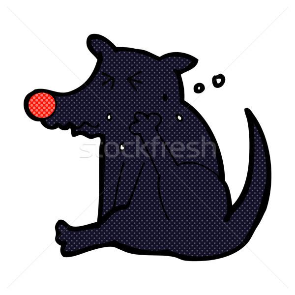 comic cartoon dog scratching Stock photo © lineartestpilot