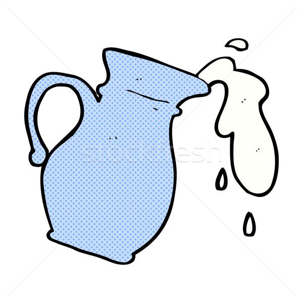 Képregény rajz tejesflakon retro képregény stílus Stock fotó © lineartestpilot