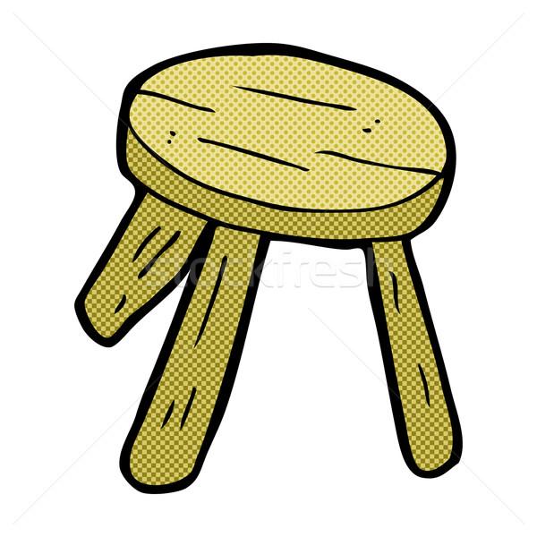 comic cartoon wooden stool Stock photo © lineartestpilot