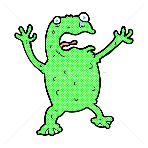 comic cartoon frightened frog Stock photo © lineartestpilot
