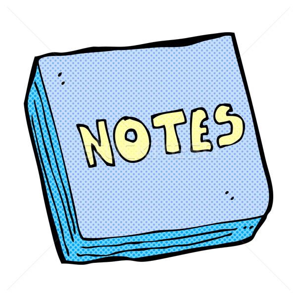 comic cartoon notes pad Stock photo © lineartestpilot