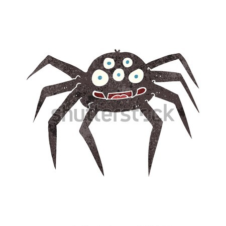 cartoon gross halloween spider with thought bubble Stock photo © lineartestpilot