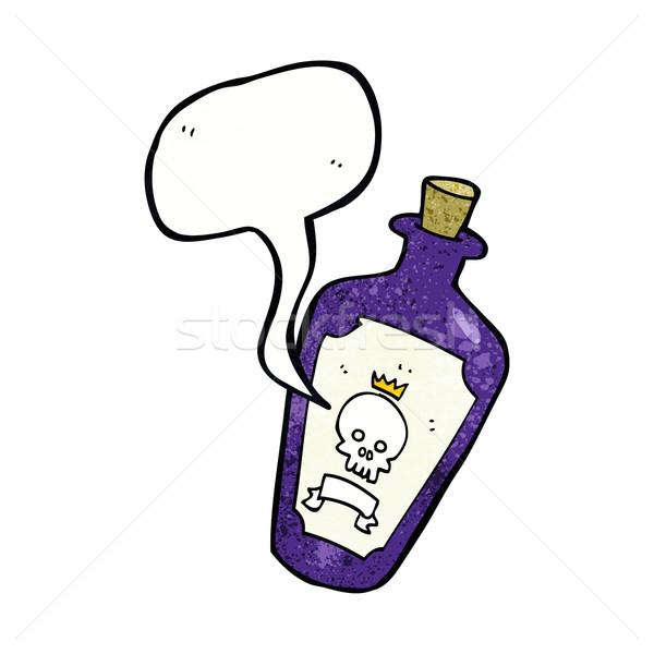 Cartoon tóxico bocadillo mano diseno arte Foto stock © lineartestpilot