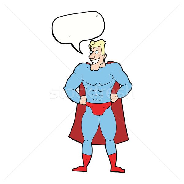 漫画 スーパーヒーロー 吹き出し 手 デザイン クレイジー ストックフォト © lineartestpilot