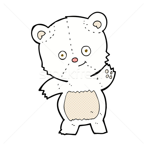 Bonitinho urso polar cômico desenho animado retro Foto stock © lineartestpilot