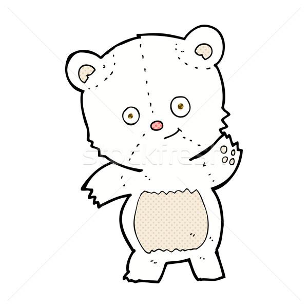 cute polar bear comic cartoon Stock photo © lineartestpilot