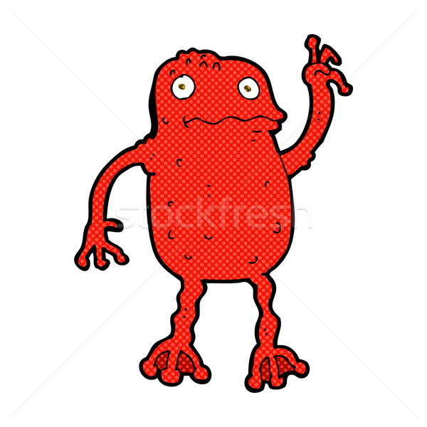 comic cartoon poisonous frog Stock photo © lineartestpilot