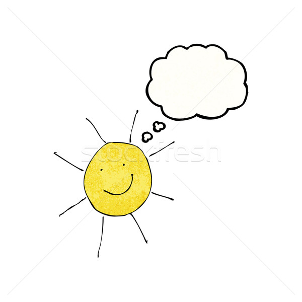 child's drawing of sunny weather Stock photo © lineartestpilot