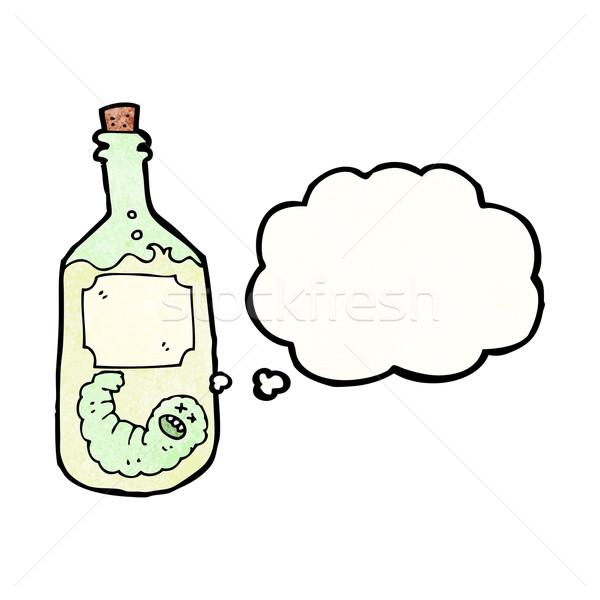 Tequila garrafa desenho animado arte retro desenho Foto stock © lineartestpilot