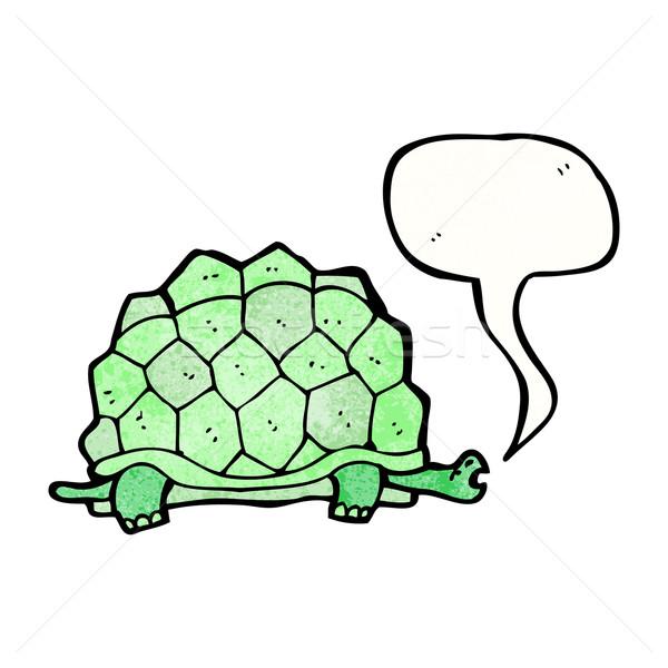 Rajz óriás teknősbéka retro rajz aranyos Stock fotó © lineartestpilot