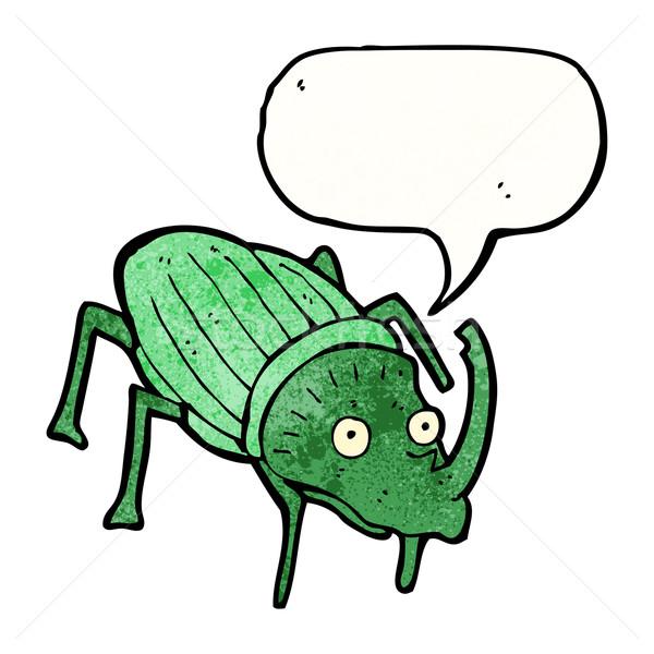 Stag beetle cartoon