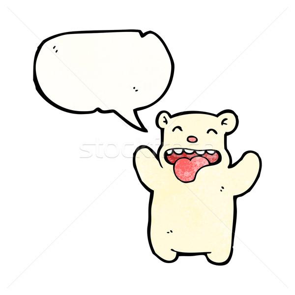 Rajz jegesmedve művészet retro rajz aranyos Stock fotó © lineartestpilot