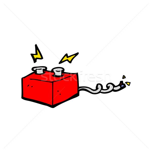 Cartoon Battery Tester : 漫畫 · 電池 設計 藝術 復古 滑稽 插圖 lineartestpilot