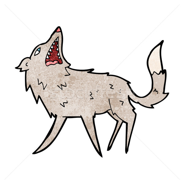cartoon snapping wolf Stock photo © lineartestpilot