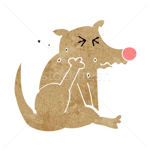 cartoon dog scratching Stock photo © lineartestpilot