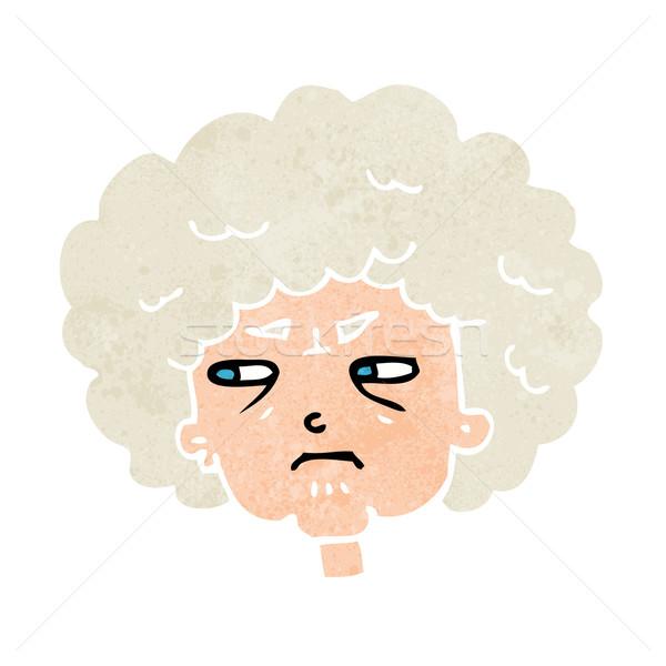 Cartoon горький старуху женщину дизайна искусства Сток-фото © lineartestpilot