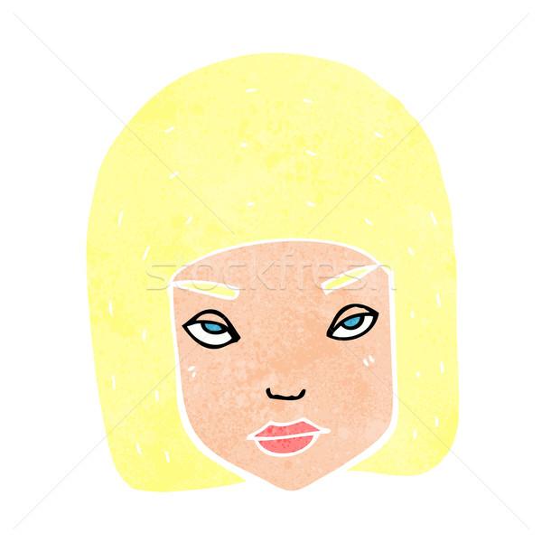 Cartoon agacé Homme visage fille main Photo stock © lineartestpilot