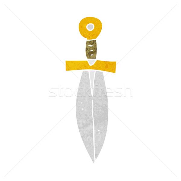 漫画 古い 短剣 手 デザイン クレイジー ストックフォト © lineartestpilot