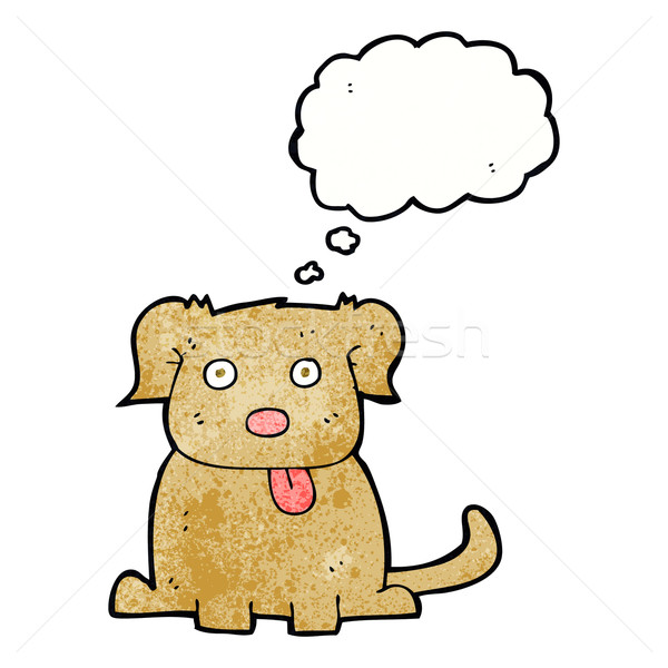 Cartoon perro burbuja de pensamiento mano diseno arte Foto stock © lineartestpilot
