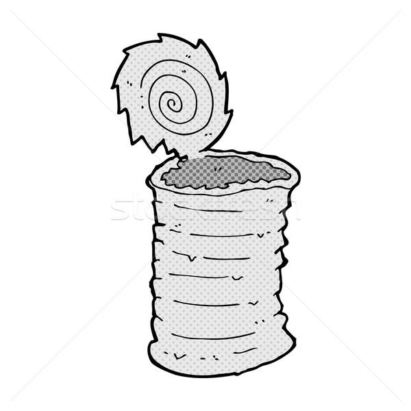 comic cartoon old tin can  Stock photo © lineartestpilot