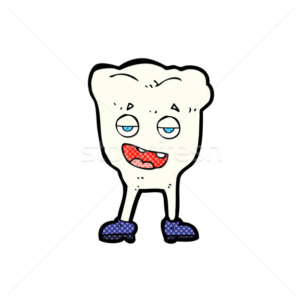 comic cartoon tooth looking smug Stock photo © lineartestpilot